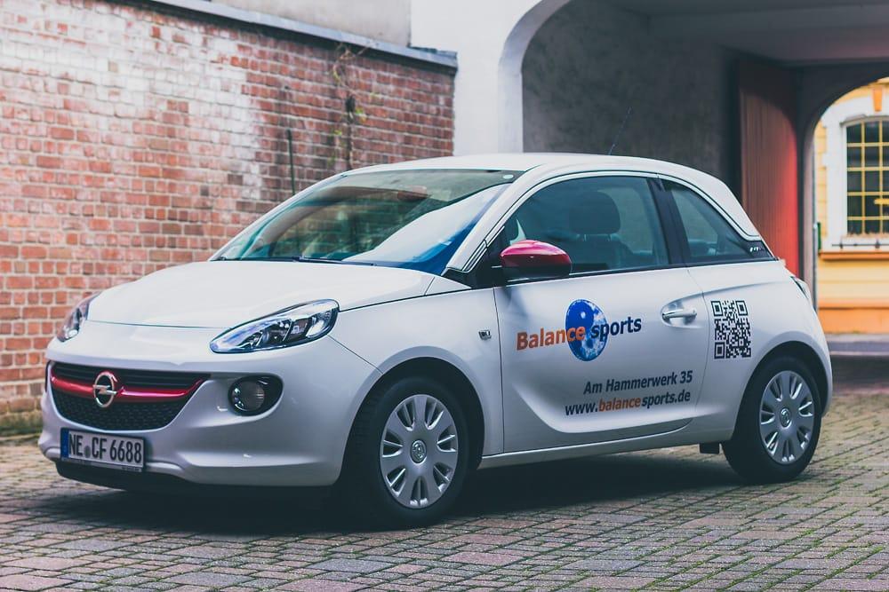 Autobeschriftung Opel Adam Balance Sports Swn Medien