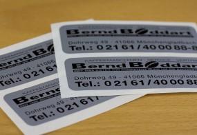 Bernd Boddart / Sicherheitsaufkleber
