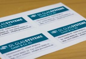 Adressaufkleber / DL Glassysteme GmbH