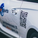 Autobeschriftung bzw. Fahrzeugbeschriftung eines Opel Adams in Grevenbroich