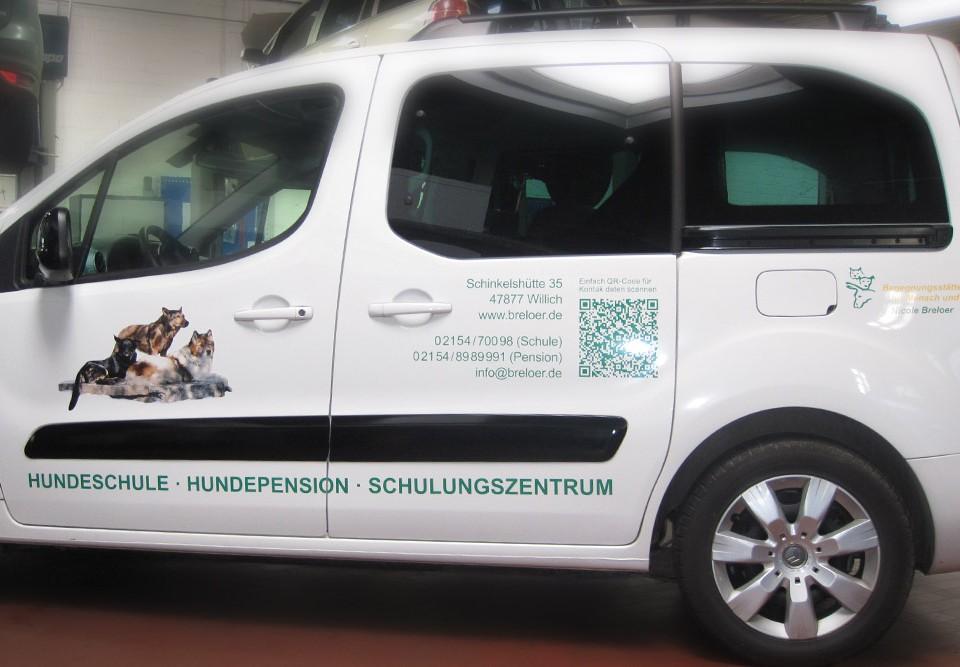 Autobeschriftung / Hundeschule Breloer