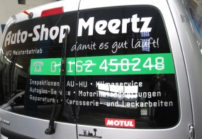 Fahrzeugbeschriftung / Auto-Shop Meertz