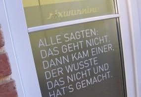 Fensterbeschriftung / SIXWASNINE