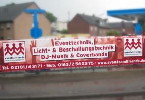 Werbebanner / events&friends