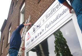 Firmenschilder reflektierend / Griesis Radtreff