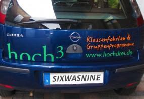 Autobeschriftung / hoch3 / Opel Corsa
