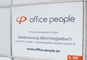office people / Firmenschild