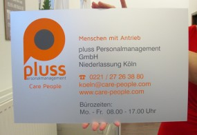 Aluminiumschild / pluss GmbH / Köln