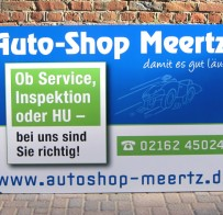 Aluverbundschild / Auto-Shop Meertz