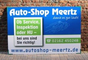 Aluverbundschild / Auto-Shop Meertz