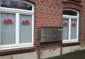 Fensterbeschriftung / Life Systems / Mönchengladbach