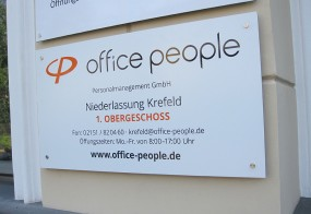 Firmenschild / Office People