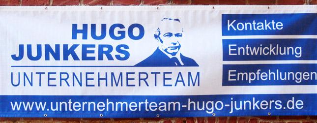 Beispiel für ein Werbeanner für das Unternehmerteam Hugo Junkers in Mönchengladbach