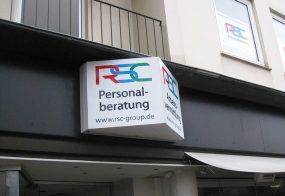 Leuchtkastenbeschriftung / RSC Group