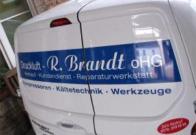 Autobeschriftung / Druckluft Brandt