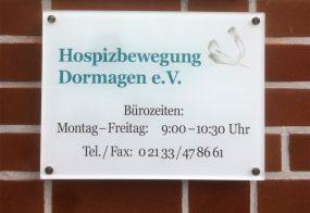 Acrylschild / Hospitzbewegung Dormagen e. V.