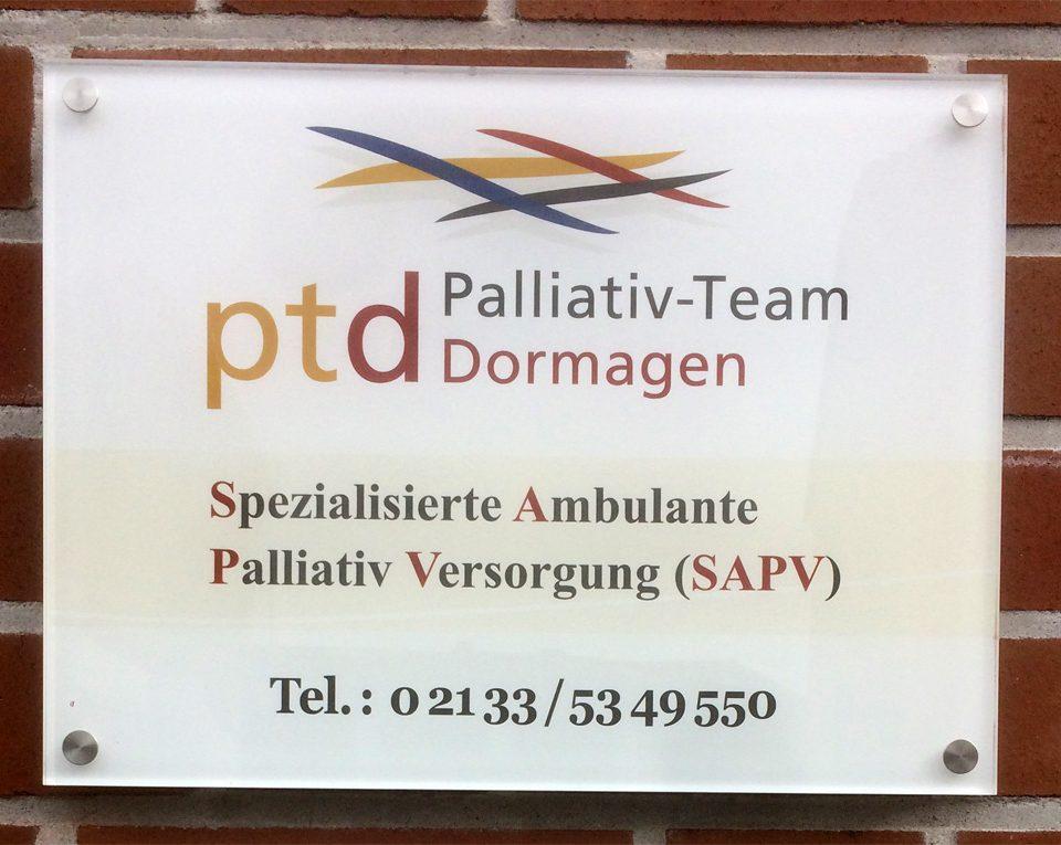 Firmenschild / Palliativ-Team Dormagen