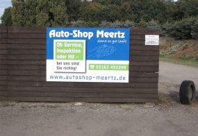 Aluverbundschild / Auto-Shop Meertz / Viersen