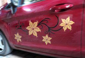 Autoaufkleber / Blumendekor / Ford Fiesta