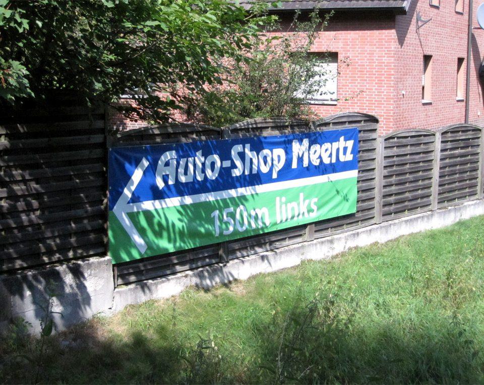 Banner / Auto-Shop Meertz / Viersen