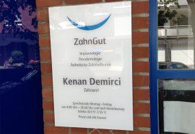 Firmenschild / Zahngut /Monheim am Rhein