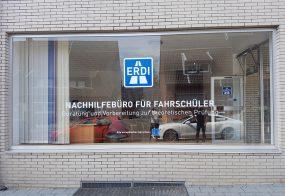 Fensterbeschriftung / Fahrschule ERDI