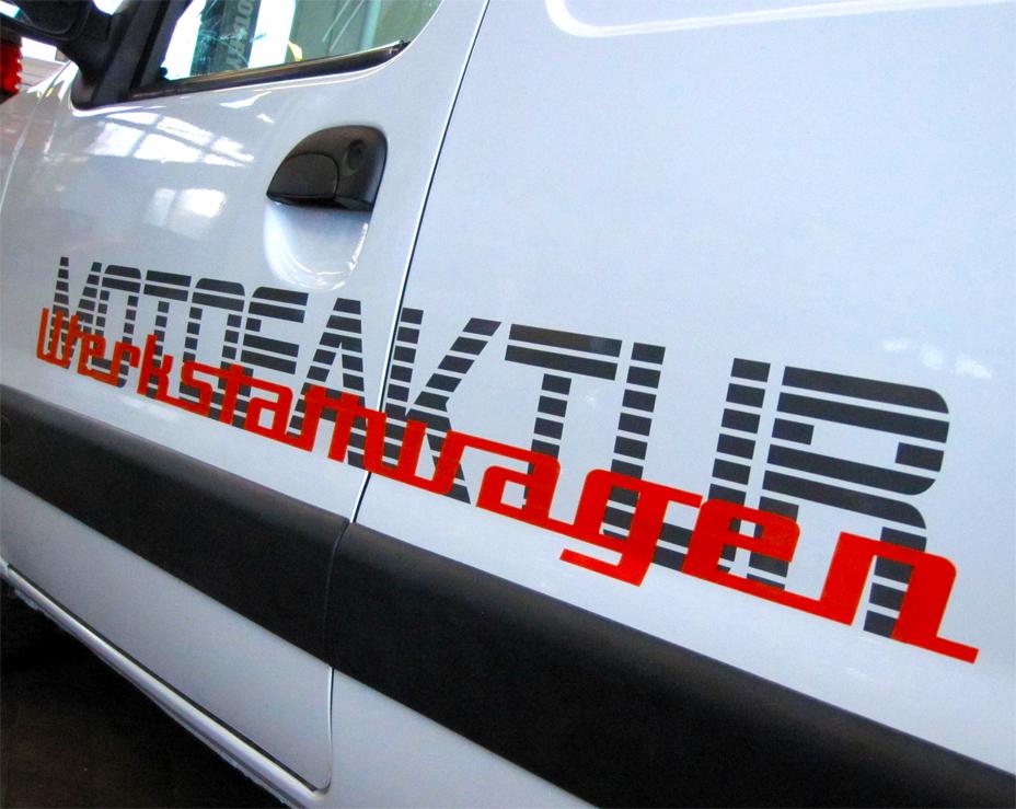 Lieferwagenbeschriftung / Kangoo