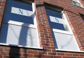 Fensterbeklebung / Astrid Nolte / Viersen