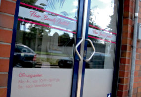 Fensterbeschriftung / Flair Beauty Institut