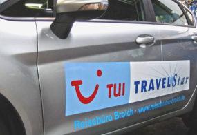 Reisebüro Broich /Fahrzeugbeschriftung
