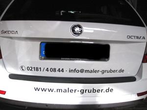 Fahrzeugbeschriftung für Malerunternehmen