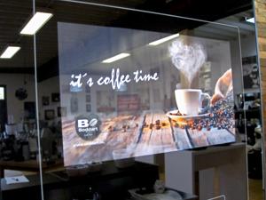 Bernd Boddart Kaffeemaschinen Display Digitaldruck