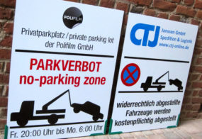 Parkverbotschild / Grevenbroich