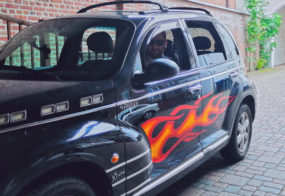 Flammenaufkleber / Chrysler PT Cruiser