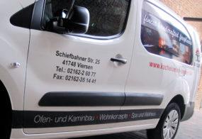 Transporterfolierung / Kacheloefen Breuer